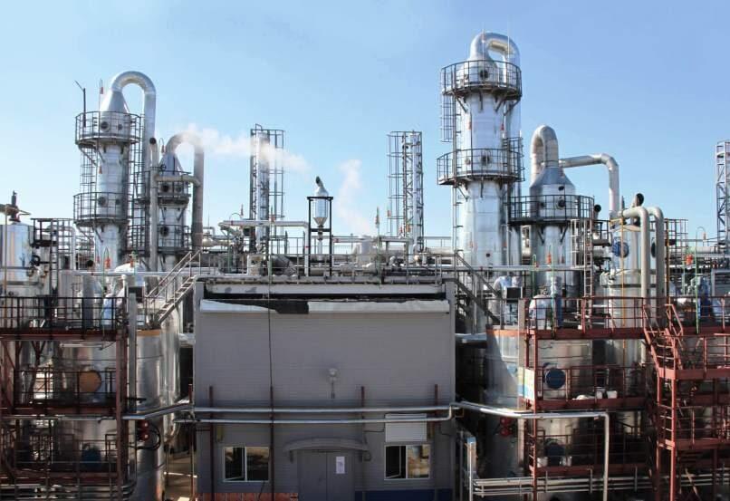 Производство метанола в ПФО, УФО, СЗФО, ЦФО и СФО